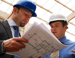 Rater coordinates with construction team